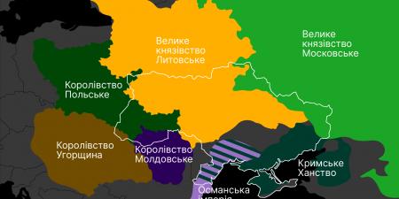 Українські землі під владою іноземних держав у XIII-XIV ст.